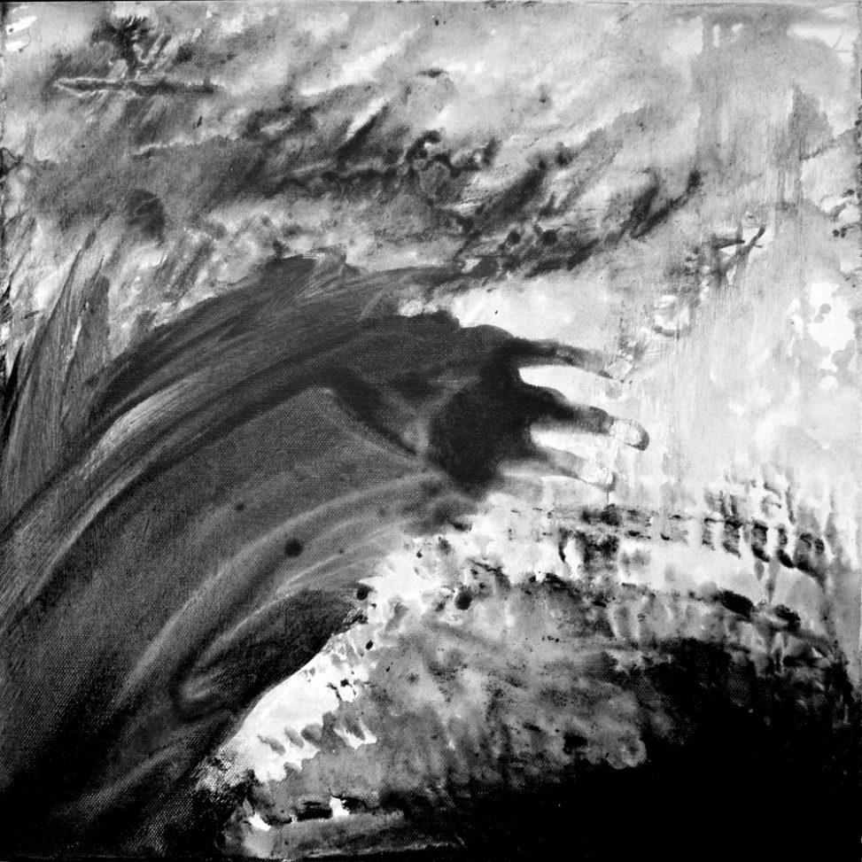 Mouvement - Tableau lavis dégradés artiste contemporaine Erica Hinyot exposition Ode à la pluie