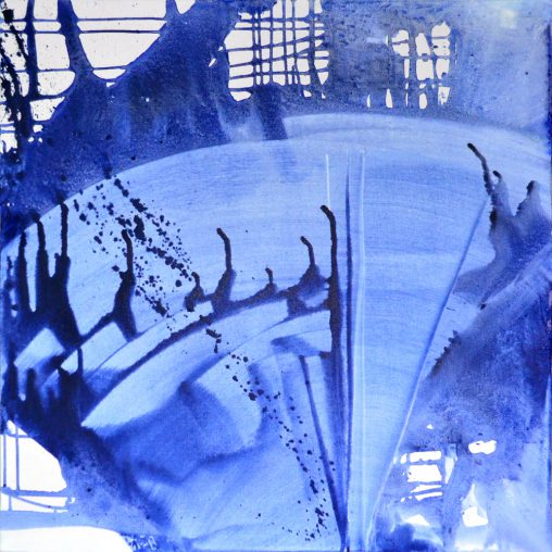 Fluide art royal blue marine - artmovement - instantaneous art - blue painting - Contemporary Modern Abstract Art