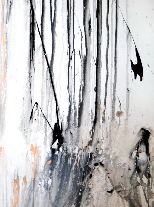 Close up art - form - matières - Ode à la pluie Erica Hinyot painting - gestalt withe black nude colors erica-icare.com