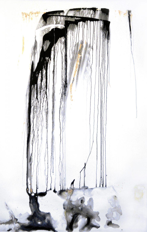 """Galery art Brussels Peinture Fraîche collection privée - art and interior Hinyot Erica art instant présent - """"Ode à la pluie"""""""