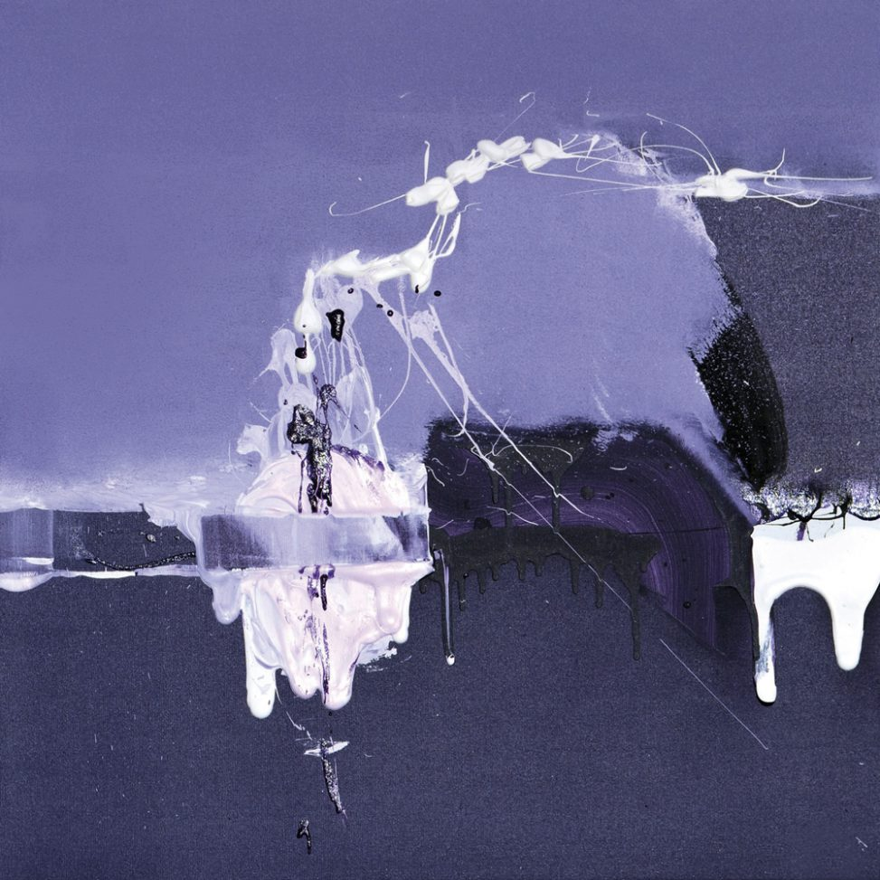lanscapes acrylic and pigment painting purple colors mixed erica-icare.com abstract art lyric linen canvas