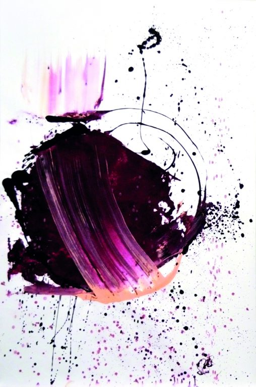 Earth painting purple colors - art organic - Noûs - emerging art - earth follow - abstract artist erica-icare.com