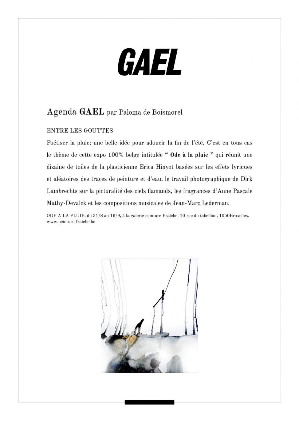 Extrait GAEL magazine poétiser la pluie : une belle idée pour adoucir la fin de l'été.