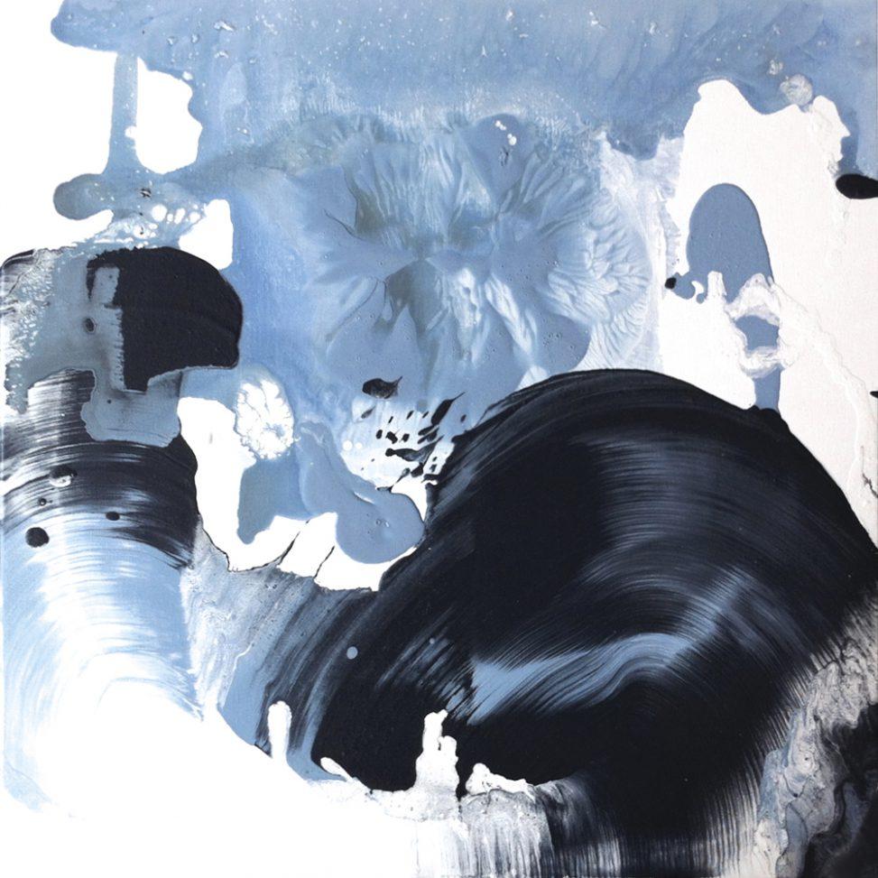 Matières mouvements noirs gris bleus mats ou brillants Erica Hinyot art movement black blue