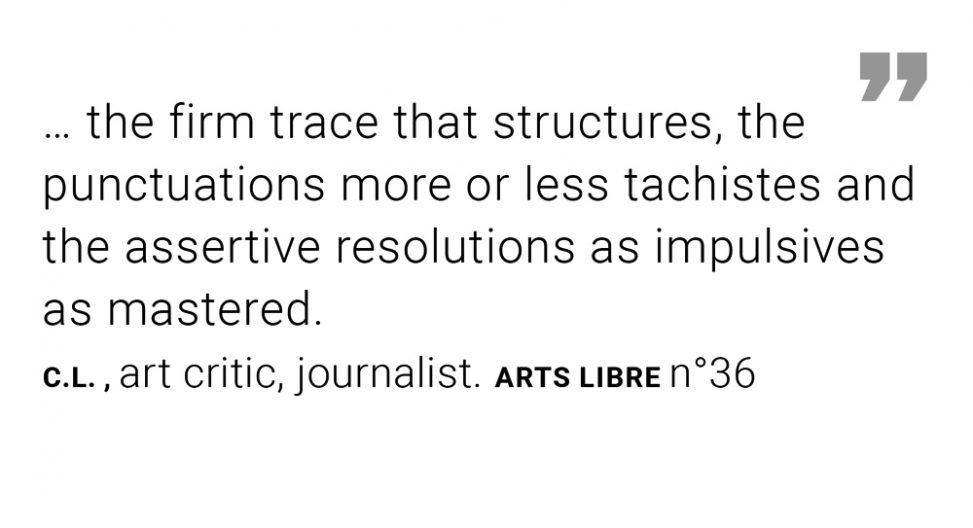 """Extract ARTS Libre N°36 Pluie noire - exhibition """"Ode à la pluie"""" Peinture Fraiche Brussels"""