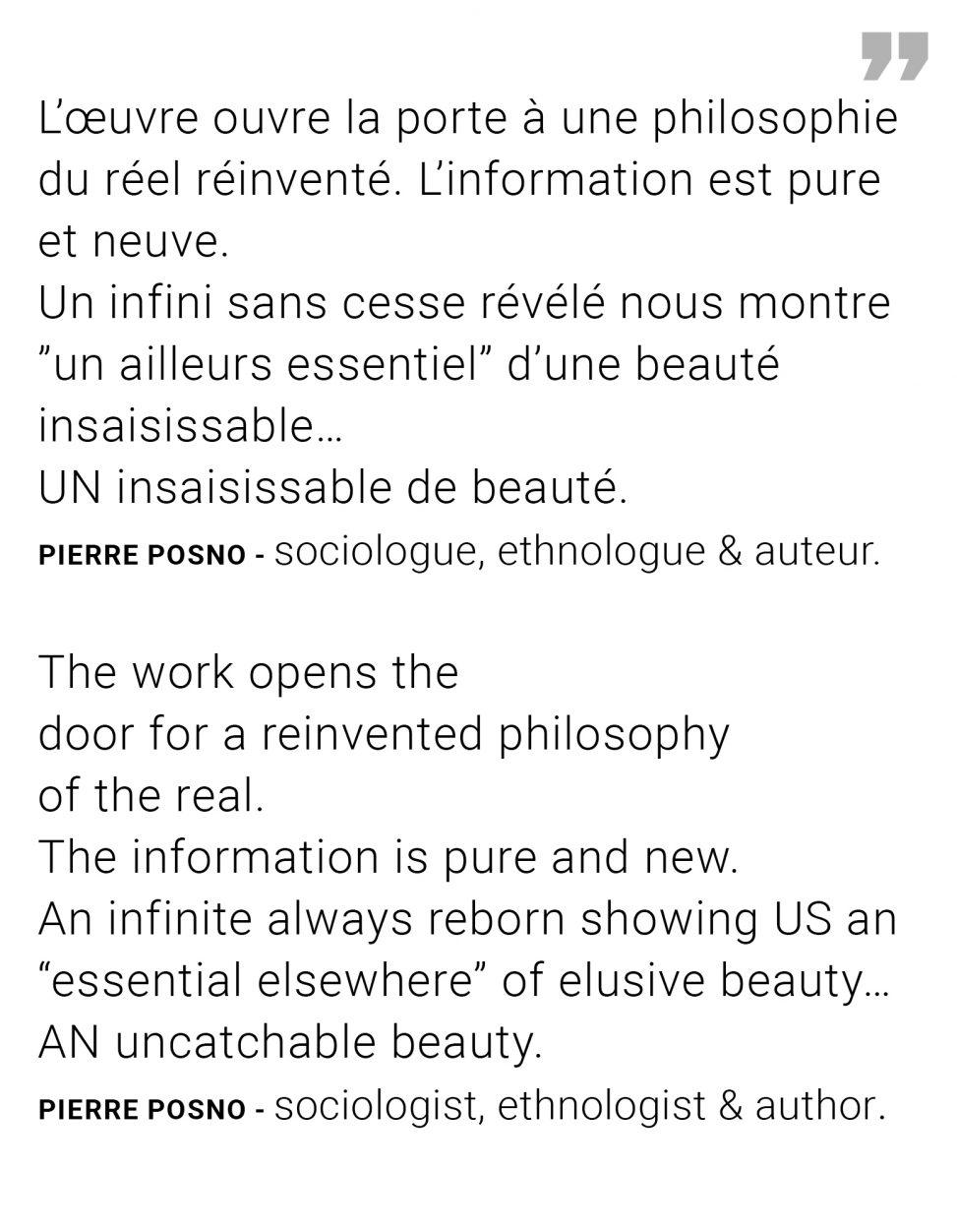 Pierre Posno sociologist ethnologist & author - Quote exhibition Ode à la pluie